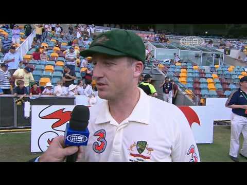 Brad Haddin Interview after 1st Test Australia v West Indies Gabba 2009