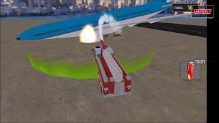 Trò chơi lái xe cứu hỏa chửa cháy máy bay gặp nạn bị rơi cu lỳ chơi game lồng tiếng