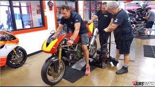 Ducati Supermono Startup At AMS Ducati Dallas
