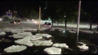 Extreme weather brings mini icebergs to Rome
