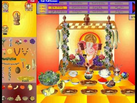 Interactive Vinayaka Chavithi Pooja Download and do on your computer