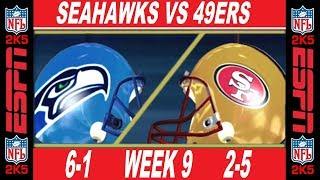 49ers vs Seahawks  Week 9 ESPN NFL 2K5