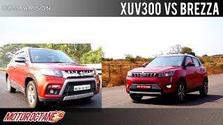 Mahindra XUV300 vs Maruti Vitara Brezza Comparison   Hindi   MotorOctane