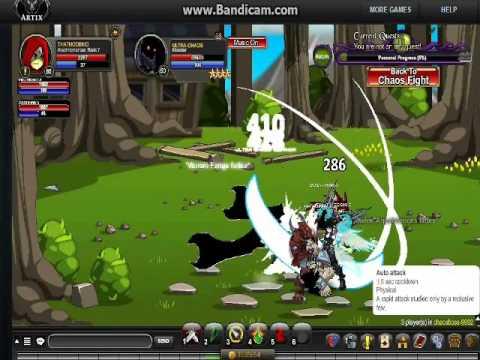 Aqworlds Chaos Warlord Boss Killing