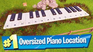 Play the Sheet Music at an Oversized Piano - Fortnite Boogie Down Challenge