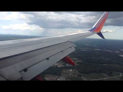 Southwest Airlines landing in Manchester New Hampshire