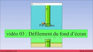 video03 - flappyBird - Défilement du fond d