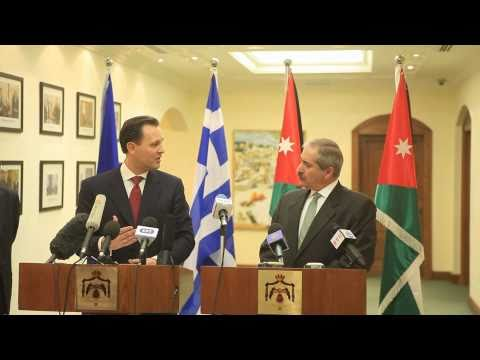 Greek FM Dimitris Droutsas with Jordan's FM Mr. Nasser Judeh