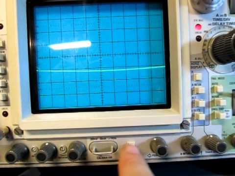 Analog Oscilloscope Basics: Making a Frequency Measurement