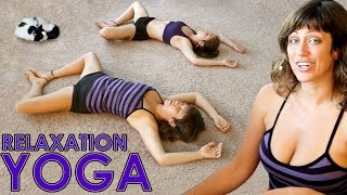 Relaxation or Bedtime Yoga Routine For Beginners To Help You Sleep & Stress Relief