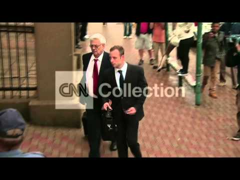 SOUTH AFRICA: OSCAR PISTORIUS TRIAL ARRIVAL (WED)