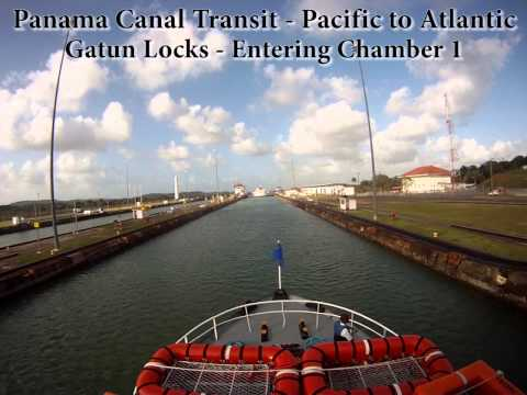Panama Canal Full Transit From the Pacific Ocean to the Atlantic (Time Lapse)