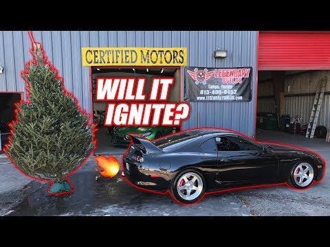 1000hp Supra Anti-Lag vs. Dried Up Christmas Tree!