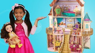 Emma Pretend Play with Giant Belle Doll Playhouse Beauty and the Beast Toys