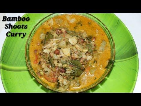 Bamboo Shoots Curry in Kannada | ಬಿದಿರು ಕಡ್ಲೆ | Bidiru Kadle sambar recipe in Kannada | Rekha Aduge