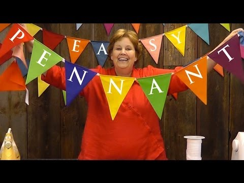 Easy Pennant Project-Sewing With Layer Cakes!