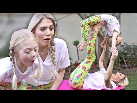 HILARIOUS MOMMY DAUGHTER YOGA CHALLENGE!! thumbnail