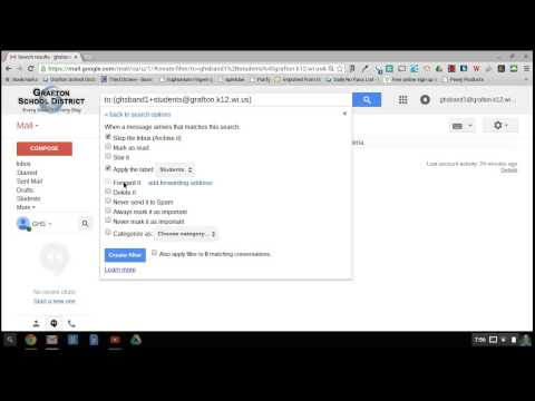 Create a filter using an email alias in Gmail