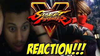 MAH BOY SAT ON HER!!! [STREET FIGHTER V] Zeku Reveal Trailer REACTION!!!