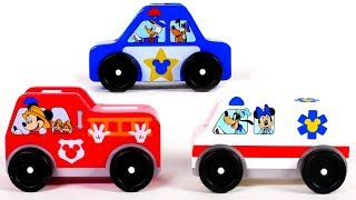 Learn Colors with Mickey Mouse Clubhouse Toy Vehicles for Children