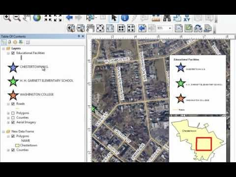 ArcGIS 10 Map Layout Demo in ArcMap - GT-101 - Washington College