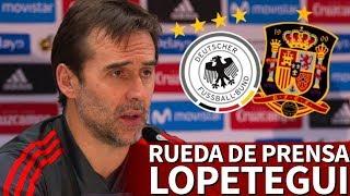 download musica Alemania-España Rueda de prensa previa de Lopetegui Diario AS