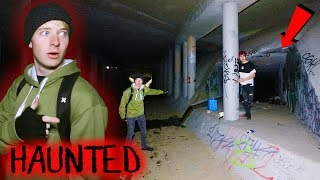 LOST in Haunted DIABLO'S DEN at Night (Rocks Thrown)