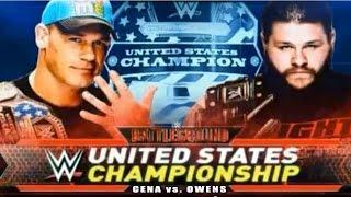WWE Battleground 2015 - John Cena vs Kevin Owens Match HD