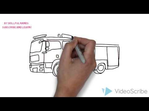 Видео как нарисовать пожарного карандашом поэтапно
