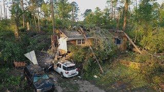 Ruston Louisiana and La. Tech university hit by powerful tornado