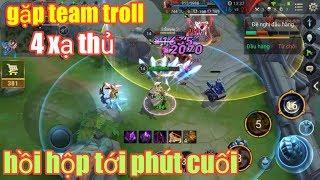 Liên Quân Mobile _ Gặp Team Troll Chơi 4 Xạ Thủ 1 Pháp Sư | Lật Kèo Kinh Điển Cùng Siêu Trộm Valhein