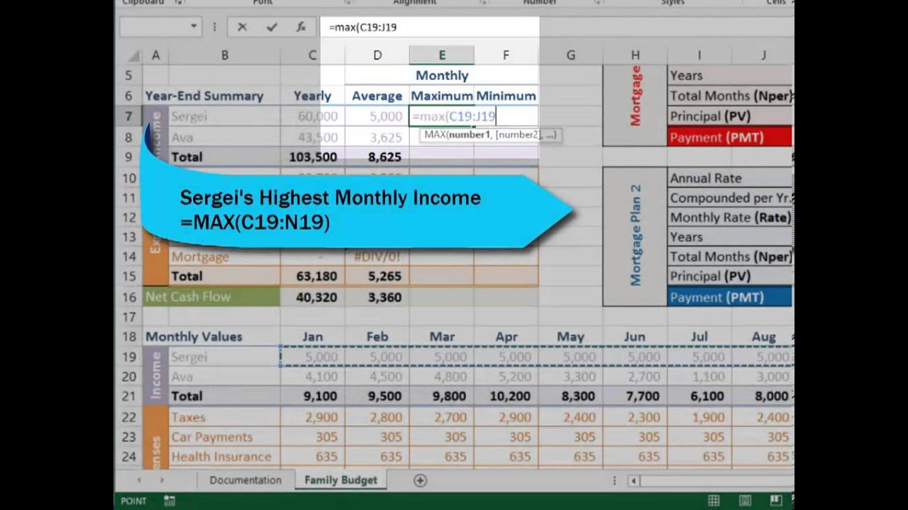 assignment microsoft excel 2007