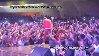 Chipmunk & Sarkodie dance AZONTO at Ghana Rocks