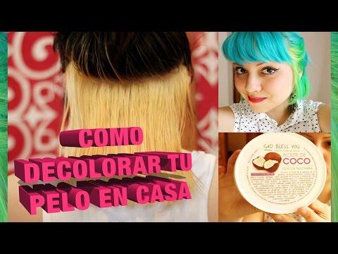 Cómo decolorar el pelo en casa ( antes. durante. después )