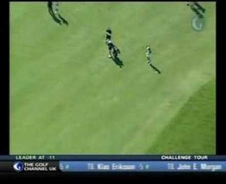 Michelle Wie - hits green on 596 yard par 5 in 2 shots