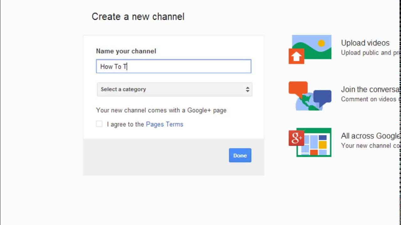 How to create new youtube channel with same email account youtube