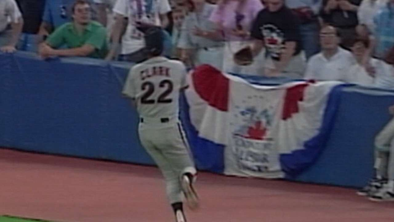1991 ASG: Clark makes a basket catch in foul ground