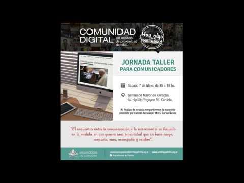 Invitación Jornada Taller para  Comunicadores - P. Pablo Nassif en Radio María Argentina