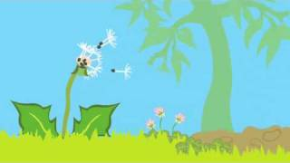 Dandelion life cycle animation