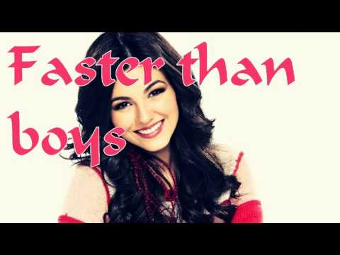 image Victoria justice faster than boys