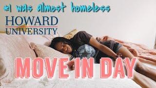 Move In day @ Howard University 2019 | Homeless at Howard #HU23
