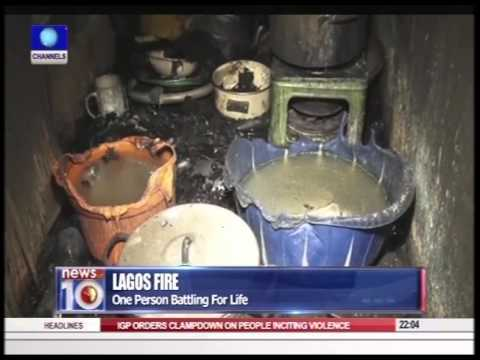News@10: Lagos Fire Disaster: Inferno Kills 7 Members Of Family 09/09/15 Pt. 1