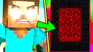 HOW TO MAKE A PORTAL TO THE HEROBRINE DIMENSION - MINECRAFT SECRET