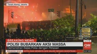 Breaking News! Polisi Pukul Mundur Aksi Demo Bawaslu di Tanah Abang & Wahid Hasyim