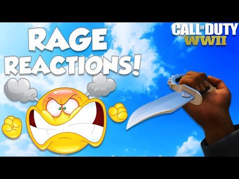 FUNNY KNIFE ONLY RAGE REACTIONS #2 (Epic Call Of Duty WW2 Rage Moments)