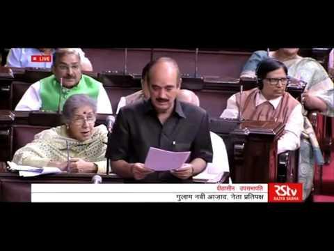 Ghulam Nabi Azad Speech in Rajya Sabha, 27 April 2016