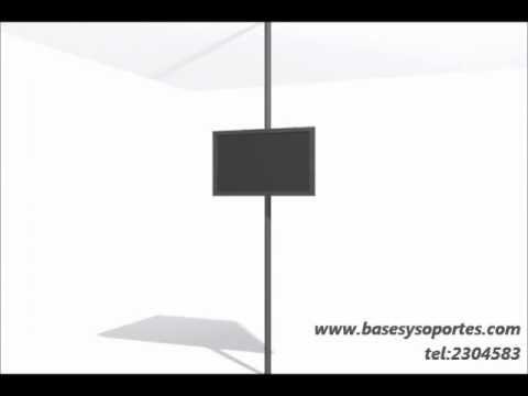 Soporte tv led lcd plasma piso a techo con repisa para - Soporte tv giratorio ...