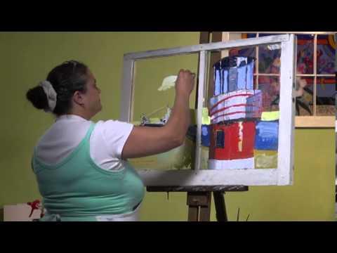 Reverse Painting on Glass w/ MariBeth Blum-Tuton Episode 3