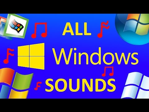 ALL MICROSOFT WINDOWS SOUNDS [WINDOWS 1-10]