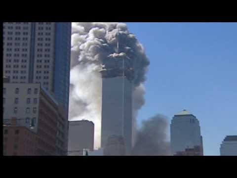 Demolition of WTC Tower 1 Enhanced Footage 9/11 2001